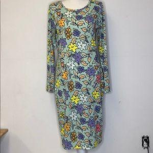 Lularoe Dress Long Sleeve Floral